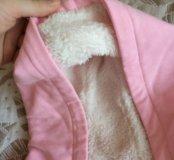 Толстовка детская,с утеплённым капюшоном.