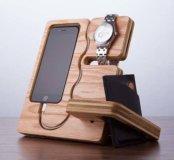 Подставка (дерево)  для телефона, часов, кошелька