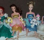 Куклы Принцессы и их питомцы