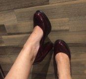 Темно-бордовые туфли
