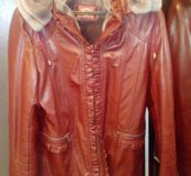 Куртка кожаная на меху 48-50р