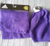 Комплект adidas шапка и шарф женский