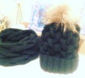Шапка + шарф ( снуд)