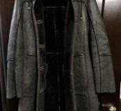 Дублёнка с капюшоном 44-46 р коричневая
