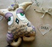 Сова Мама- Ароматная кофейная (чердачная) игрушка