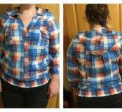 Женская рубашка с капюшоном