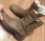 Обувь зимняя натуральный мех и кожа.