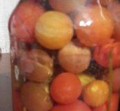 Мамины помидорчики,огурчики,белые грибочки...