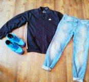 Мастерка adidas и джинсы ostin
