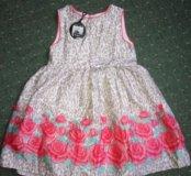 Новое нарядное платье для девочки на 7-8 лет