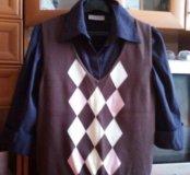 Рубашка с жилеткой