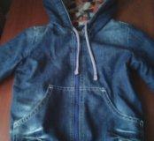 Ветровка(джинса утеплённая)+джинсы(утеплённые)