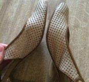 Туфли бежевые р.38
