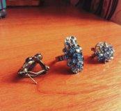 Серьги, кольцо и ободок