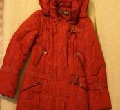Куртка зимняя рыжая 44р