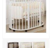 Круглая - овальная кроватка 3в1