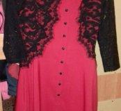 Интересное платье с гипюром