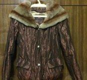 Куртка из натурального меха кролика (стриженый)