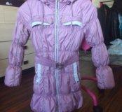 Куртка демисезонная рост 135-140 см+ подарок.