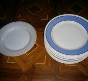 Блюдца и глубокие тарелки