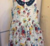 Платье 👗 белое в цветы