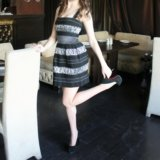 Платье бондажное, новое, копия Philip Plein