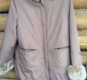Куртка демисезонная на кроличьей подстежке.