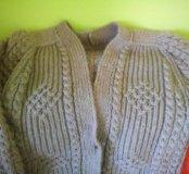Кардиган ручной вязки, вязаное полупальто