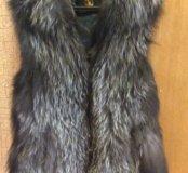 Меховой жилет (чернобурка)