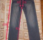 Мужские джинсы синие 30 размер