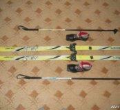 Лыжи беговые комплект!!!