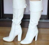 Сапоги - ботфорды белые 37 размер
