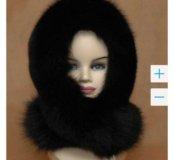 Новая шапка черная лиса