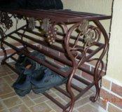 Кованные подставки под обувь, вешалки