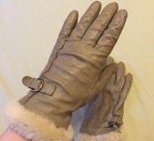 Кожаные женские перчатки Global