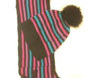 Симпатичные шапка и шарфик для девочки.