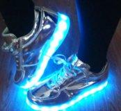Кроссовки светодиодные женские