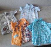 4 рубашки 3-4 года
