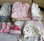 Пакет вещей на девочку от 0-12 месяцев