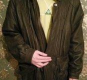 Куртка зимняя, кожа
