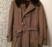 Пальто на меху, отличный подарок на Новый год папе