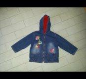 Джинсовая курточка р110 (на 5 лет)