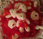 Букет мишки с конфетами
