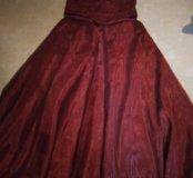 Платье вечернее бордо размер 46-48
