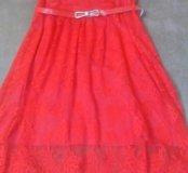Платье гепюровое