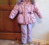 Зимний костюм комбинезон, в комплекте двое штанов