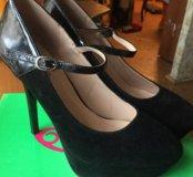 Туфли бархатные 37р.