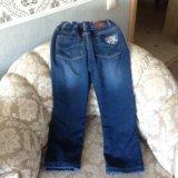 Утеплённые джинсы на рост, 122 см.