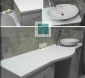 Умывальник в ванную комнату из искусственого камня