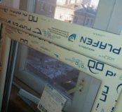 Пластиковые окна двух створчитые 1400×1500